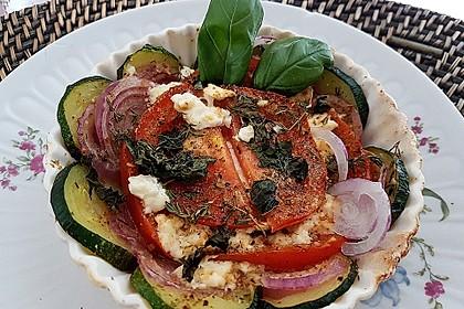 Auflauf von Zucchini, Tomaten und Feta 9