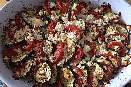 Auflauf von Zucchini, Tomaten und Feta 47
