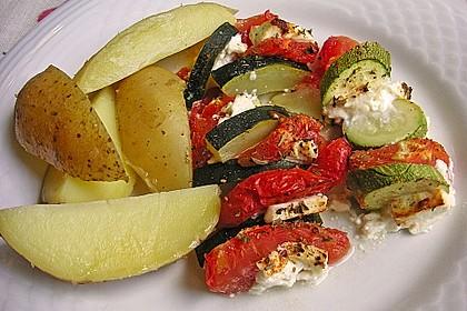 Auflauf von Zucchini, Tomaten und Feta 6