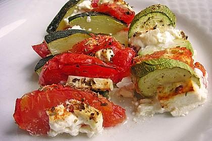 Auflauf von Zucchini, Tomaten und Feta 15