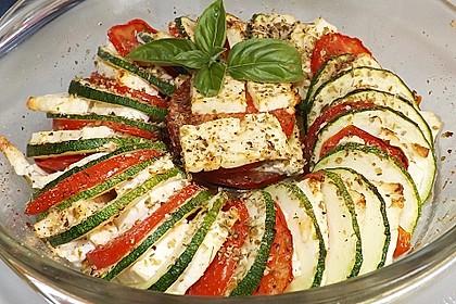 Auflauf von Zucchini, Tomaten und Feta 2