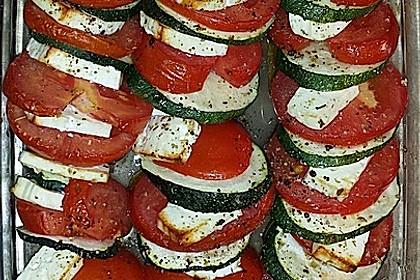 Auflauf von Zucchini, Tomaten und Feta 7