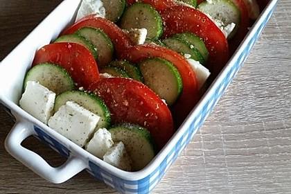 Auflauf von Zucchini, Tomaten und Feta 36