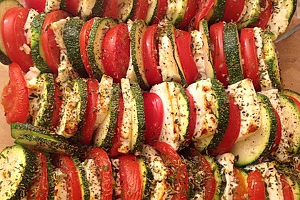 Auflauf von Zucchini, Tomaten und Feta 1