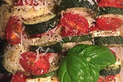 Auflauf von Zucchini, Tomaten und Feta 20