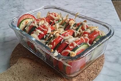 Auflauf von Zucchini, Tomaten und Feta 4