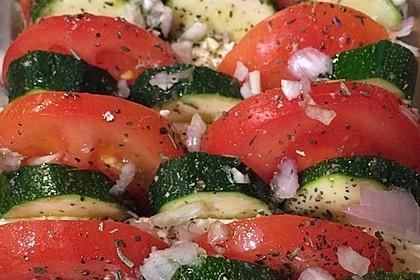 Auflauf von Zucchini, Tomaten und Feta 14