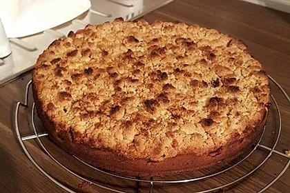 Sahne - Birnen - Kuchen mit Streuseln 14