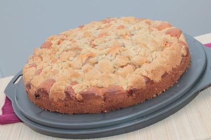 Sahne - Birnen - Kuchen mit Streuseln 15