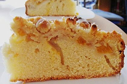Sahne - Birnen - Kuchen mit Streuseln 5