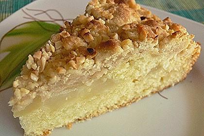 Sahne - Birnen - Kuchen mit Streuseln 4