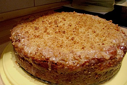 Sahne - Birnen - Kuchen mit Streuseln 17