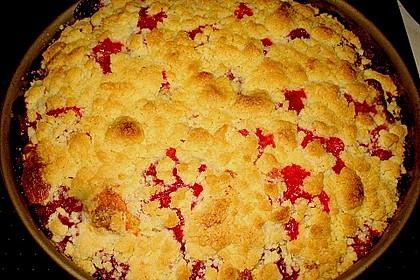 Sahne - Birnen - Kuchen mit Streuseln 9