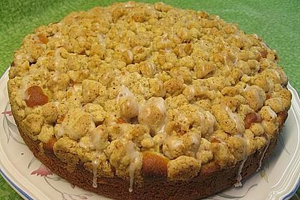 Sahne - Birnen - Kuchen mit Streuseln 8