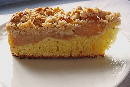 Sahne - Birnen - Kuchen mit Streuseln 6