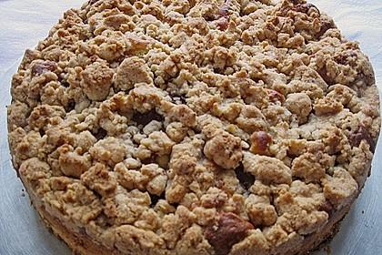Sahne - Birnen - Kuchen mit Streuseln 12