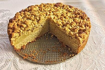 Sahne - Birnen - Kuchen mit Streuseln 11