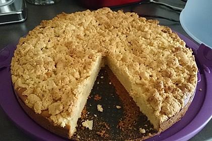 Sahne - Birnen - Kuchen mit Streuseln 1