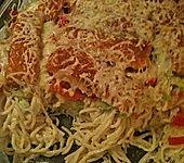 Fischstäbchen - Spaghetti - Auflauf (Bild)