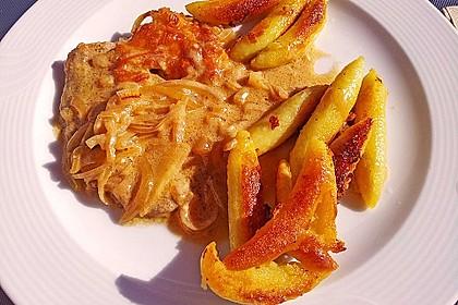 Zwiebel - Sahne - Schnitzel 7
