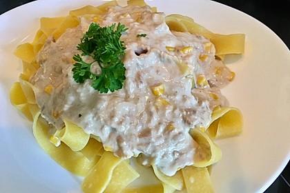 Thunfisch - Käse - Sahne - Sauce mit Nudeln 1
