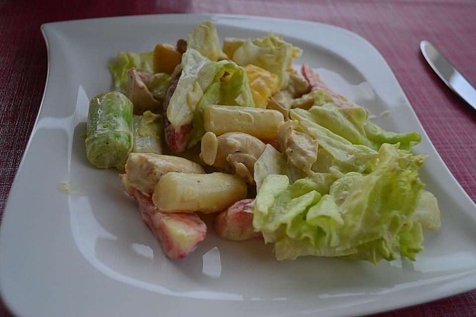 Salat mango currysauce