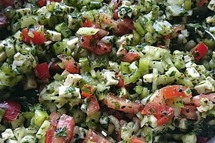 Türkischer Salat mit Minze 3