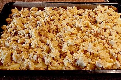 Apfelkuchen mit Krokant - Streuseln 7