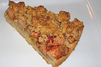 Apfelkuchen mit Krokant - Streuseln