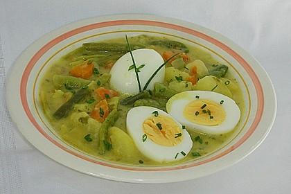 Rahmgemüse - Ragout mit Eiern