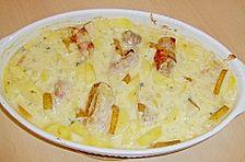 Schweinefilet - Kartoffel - Gratin mit Birne