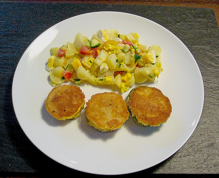 vegetarisch braten rezepte mit kartoffelsalat mit essig und l. Black Bedroom Furniture Sets. Home Design Ideas