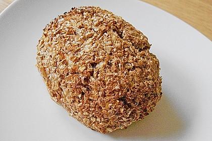 Kalorienarme Brötchen mit Weizenkleie