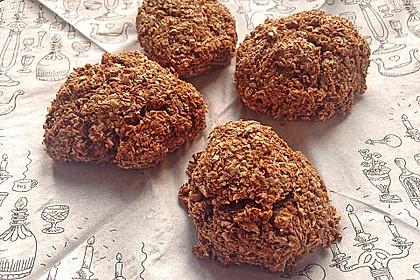 Kalorienarme Brötchen mit Weizenkleie 6