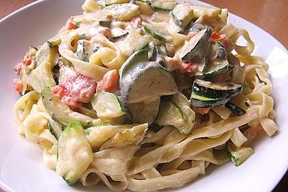 Spaghetti mit Zucchini - Sauce