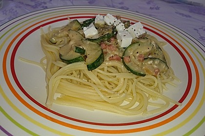 Spaghetti mit Zucchini - Sauce 3