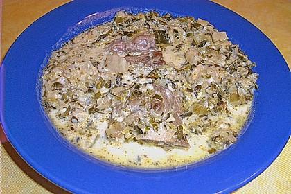 Wirsing auf Wiener Art mit gekochtem Rindfleisch und Röstkartoffeln 1