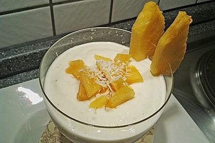 Ananas - Quark - Dessert mit Rum 14