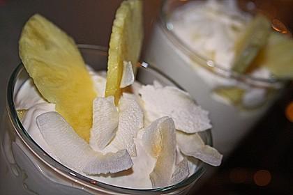 Ananas - Quark - Dessert mit Rum 6
