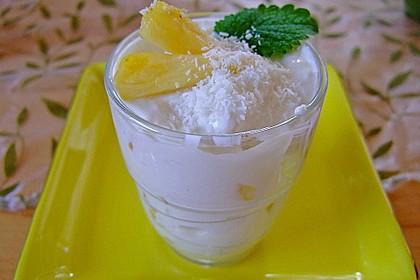 Ananas - Quark - Dessert mit Rum 1