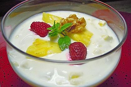 Ananas - Quark - Dessert mit Rum 4