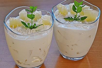 Ananas - Quark - Dessert mit Rum 7