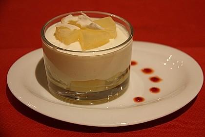 Ananas - Quark - Dessert mit Rum 3