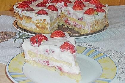 Vanille - Erdbeer - Torte à la Käse - Sahne 10