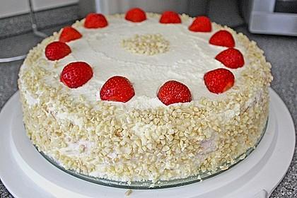 Vanille - Erdbeer - Torte à la Käse - Sahne 1