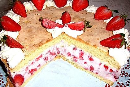 Vanille - Erdbeer - Torte à la Käse - Sahne 2