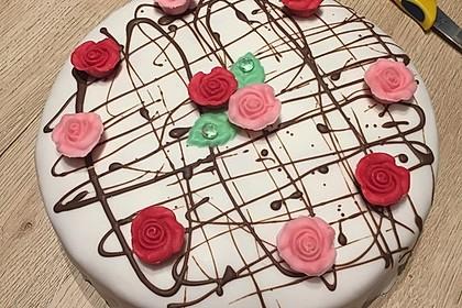 Vanille - Erdbeer - Torte à la Käse - Sahne 3