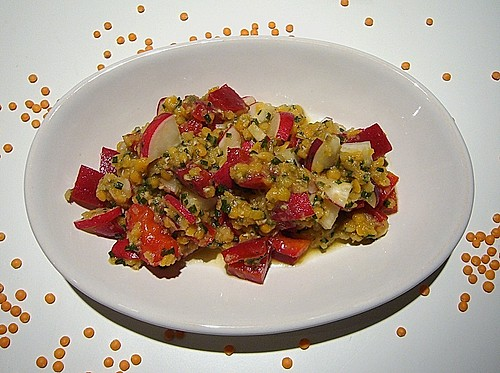 rote linsen salat rezept mit bild von st mmeli. Black Bedroom Furniture Sets. Home Design Ideas