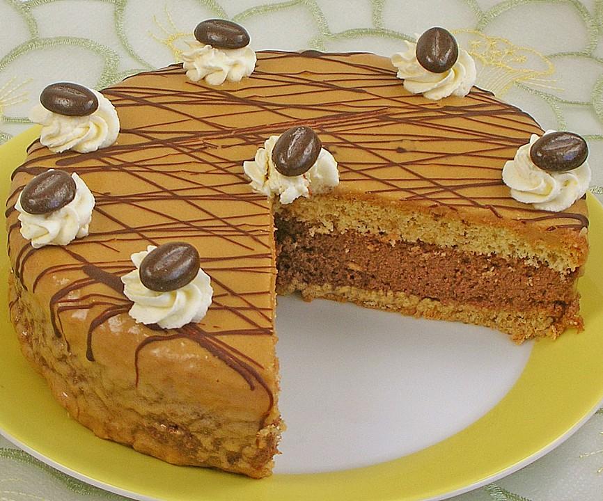 Kaffee biskuit torte