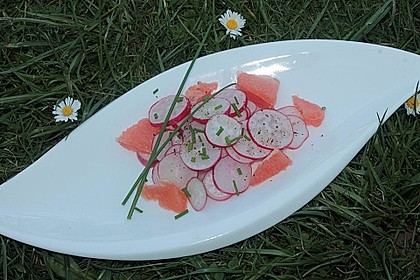 Pink Grapefruit - Radieschen - Salat